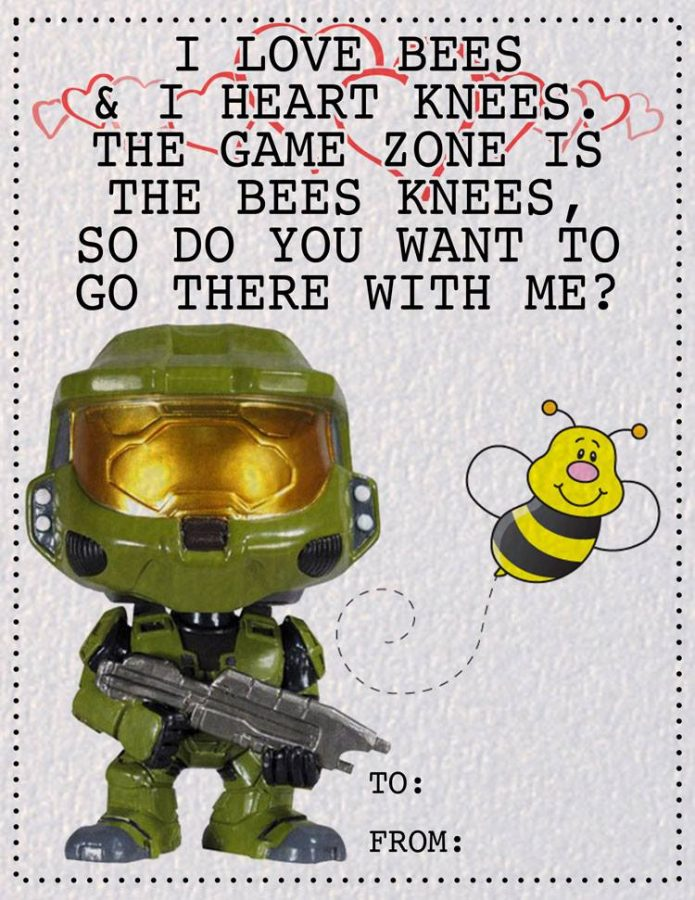 FREE The Game Zone Valentine's Day Card