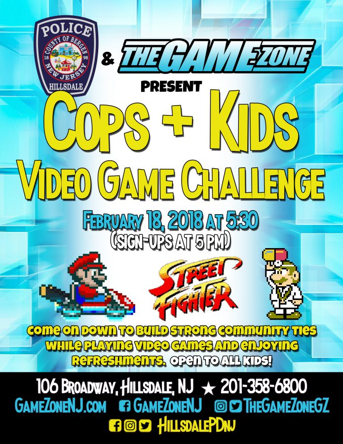 Hillsdale Police Department and The Game Zone Cops and Kids video game challenge